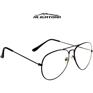 Aligatorr Stylish White Aviator in Black Frame - 206699
