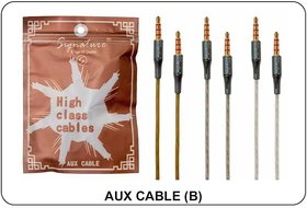 Signature High Quality Aux Cable Model - B (Assorted Colors)
