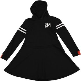 Urban Young & Free Full Sleeves HOODY DRESS For Girls
