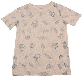 Urban Young & Free White Half Sleeve Printed T-Shirt For Boys