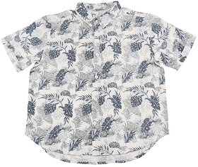 Urban Young & Free Blue Half Sleeve Printed Shirt For Boys