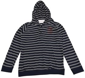 Urban Young & Free Blue Full Sleeve Stripe Hoody For Boys