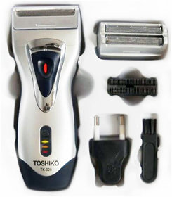 Toshiko Razor/Shaver Two Cutter Head Rechargeable Pop-Up Beard Trimmer Men
