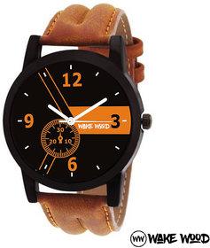 Wake Wood Black Dial Watch For Men