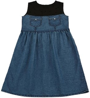 Urban Young & Free Sleeveless DENIM DRESS For Girls
