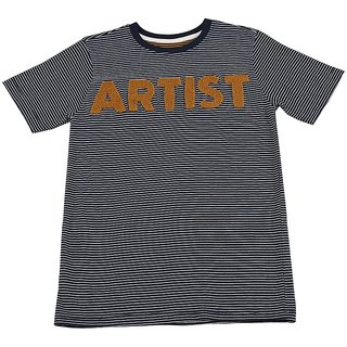 Urban Young & Free Blue Half Sleeve T-Shirt For Boys