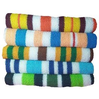 Tharunsha Elite Soft Cotton Assorted Bath Towel/Baby Towel/Hand Towel - Set of 5 Towels( 90cm x 50cm)