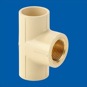 Astral CPVC Brass Tee 3/4''-3/4'' pack of 2