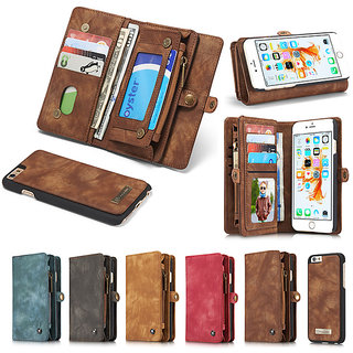Genuine Leather Wallet Case For iPhone 7/iphone7plus Luxury Multi-functional Original Magnet Cover Phone Case