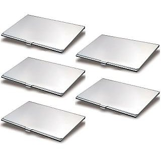 Buy pack of 5 wallet for atm steel visiting card holder steel atm pack of 5 wallet for atm steel visiting card holder steel atm visiting credit reheart Choice Image
