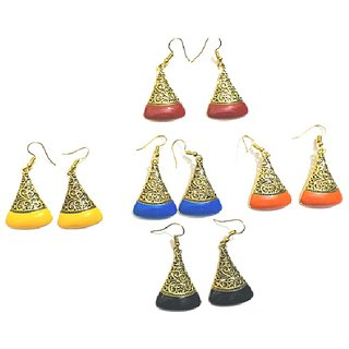 Stylish and Trendy Dangle  Drop Earrings from Evonista Collection, Pack of 5 Pair