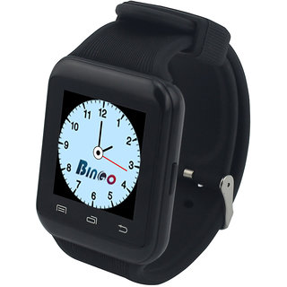 Bingo U8s Smart Watch has a Square Shape Touch Screen With Great Sound Quality- Black