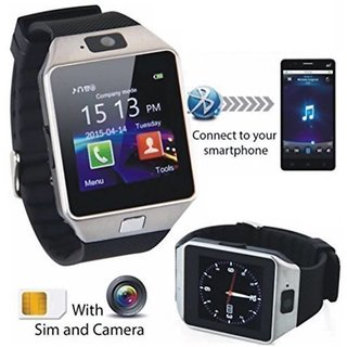 ibs and 32 GB Memory Card Slot and Fitness Tracker and bluetooth android smart with sim card watch black for smartphone