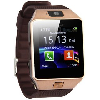 ibs with sim card androidd and 32 GB Memory Card Slot and Fitness Tracker and bluetooth smart watch brown for smartphone