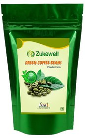 Zukewell Green Coffee Beans Unroasted Arabica Coffee Beans Powder - 200gm for Weight Loss Management Pack of 1