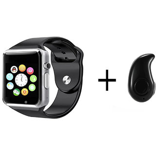 IBS A1 Smart Watch for iOS Android Samsung Sony HTC  + Memory and SIM Card CapableL WITH KAJU - BT(RAMDOM COLOUR)