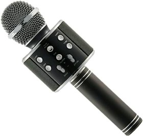 ShutterBugs WS-858 Wireless Handheld Bluetooth Mic with Bluetooth Speaker BLACK