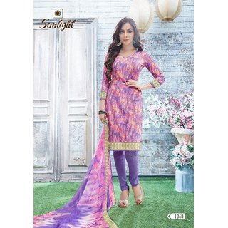 Daily office wear synthetic crape salwar kameez suit unstitched dress material