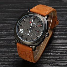 Curren 8NO Military Series Brown Sports Analog Watch For Men