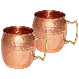 Pure Copper Hammered Beer Mug