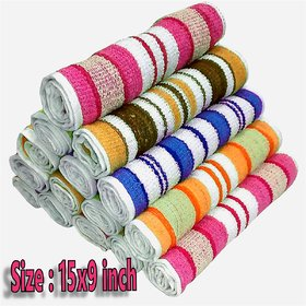 Hand Towel 15 x 9 Inch Striped Pack Of 12
