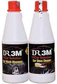 CAR WASH SHAMPOO 500ml.+ CAR GLASS CLEANER 500ML.