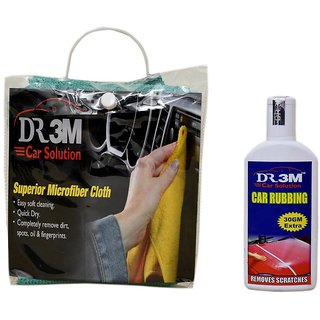 CAR RUBBING 100gm.(30gm EXTRA)+MICROFIBER CLOTH GREEN).