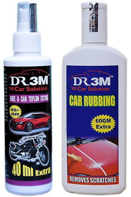 BIKE CAR TEFLON COTING 100ml (40mL  EXTRA)+ CAR RUBBING 200GM+(60 GM EXTRA)