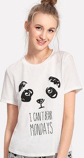 Panda Print Tee