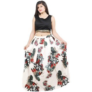f7657623cc4 Buy Rise On Fab By New Designer Grey and Black Color Benglori Silk Printed  Lehengha Choli For Women And Girls (FOXI) Online - Get 67% Off
