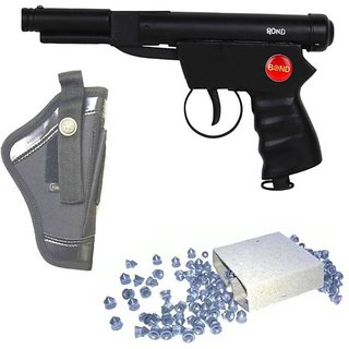 DYNAMIC MART Bond Champion Air Gun 100 Bullets With Cover (Pack of 1)  (Black)