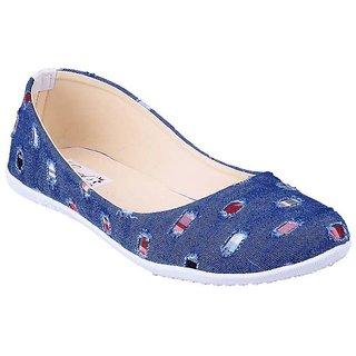 Vaniya Shoes Blue Bellie