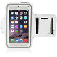 Callmate ArmBand For IPhone 6+ 5.5 Inch With Free Screen Guard - White