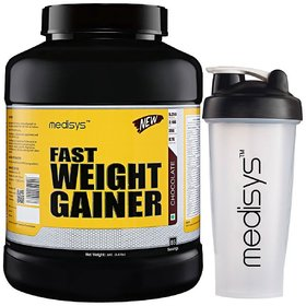 Medisys Fast Weight Gainer Chocolate 3Kg Free Shaker