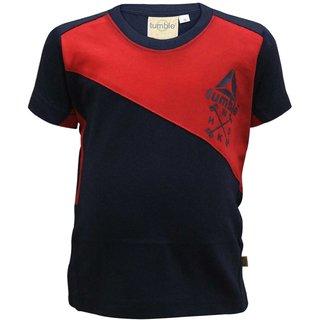 Tumble Navy Blue Half Sleeves T-Shirt