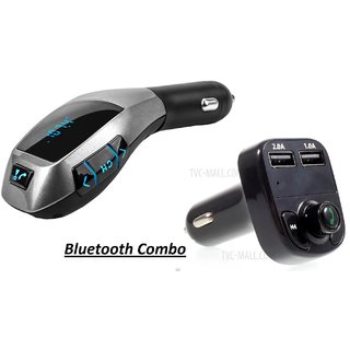 love4ride Combp of X8 Dual USB Car Charger Bluetooth with  X5 Car Charger/Bluetooth