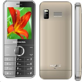 Kechaoda K115 Dual Sim Mobile Phone ( SILVER ) WITH A CHERGER FREE