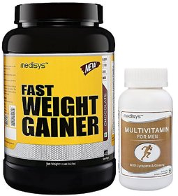 Medisys Fast Weight Gainer - Chocolate - 1.5Kg Free-Mul