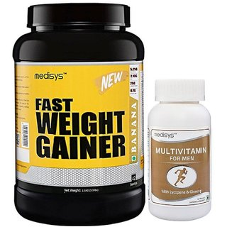 Medisys Fast Weight Gainer - Banana - 1.5Kg Free Multivitamin