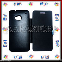 Aara Diary Smart Case Flip Cover For Htc One 801E - Black