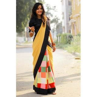 4Tigers New Designer Womens Bhagalpuri Silk Saree With Blouse Piece