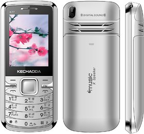 Kechaoda K115 Dual Sim Mobile Phone ( SILVER ) WITH A CHERGER FREE