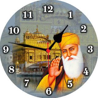 3d guru nanak dev swarn mandir wall clock