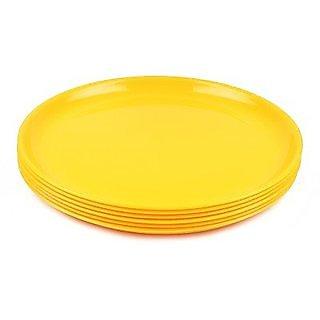 Quarter ,Half Plates set of 6, Lemon Yellow