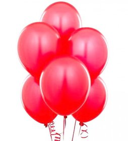 Crazy Sutra High Quality Metallic Red  Party Balloons (50pc)