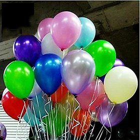 Crazy Sutra High Quality Metallic Multicolor Party Balloons (50pc)
