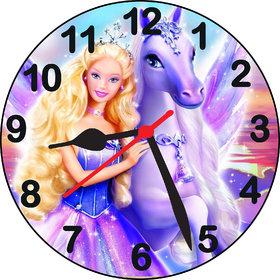 3d barbie horse2 wall clock
