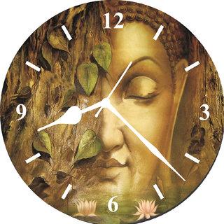 3d buddha face wall clock