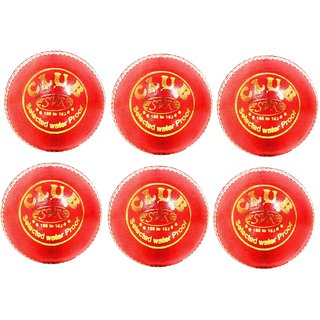 SVR Club Leather Cricket Balls for Beginners And Trainers Lightweight Special Bounce made in Premium Alum tanned Leather Quality