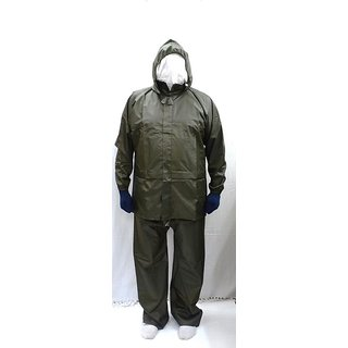 Sai Safety Bike/Scooter Water Proof Rain Suit with Hood - XL Size